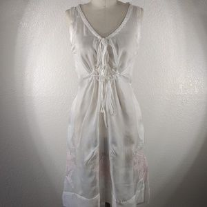 NWT Johnny Was Biya Embroidered Tie Dress Sz S